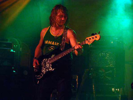 Fan Halen bass player Dave Bordeuax. Photo by Gerard Rappard (DGR Productions)